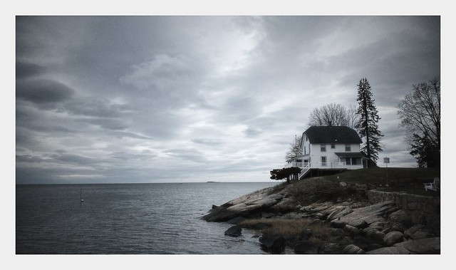 Lone House on the Long Island Sound