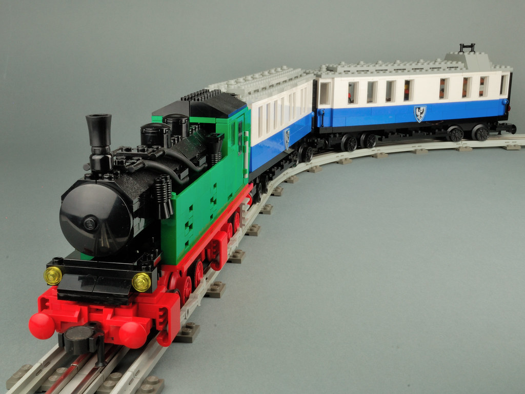 LEGO 12V MOC Mallet Steam Engine and Coaches