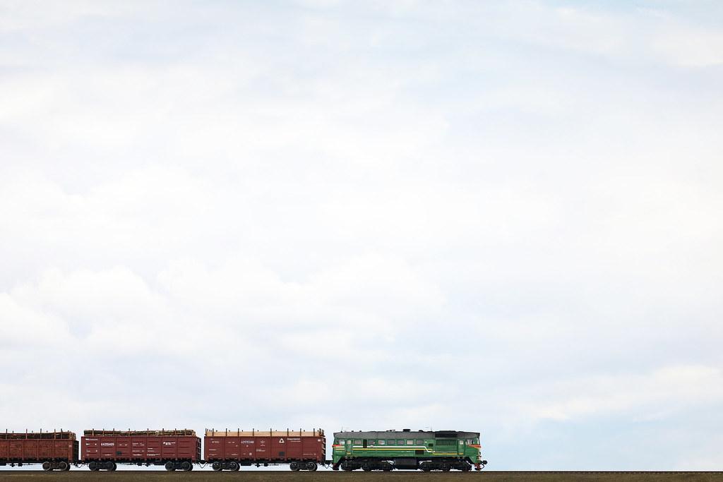 Тепловоз М62-1322 на перегоне Луполово/Могилёв-3.