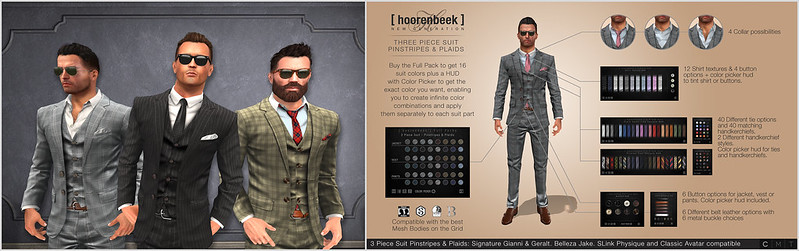 NEW RELEASES - THREE PIECE SUIT - PINSTRIPES & PLAIDS