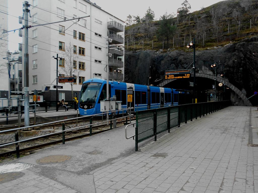 Южный Стокгольм. Туннель Årstadaltunneln.