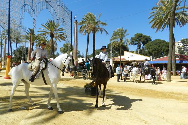 paseo desfile grupos de caballos y jinetes Parque González Hontoria Feria del Caballo 2014 Jerez de la Frontera Cadiz 05