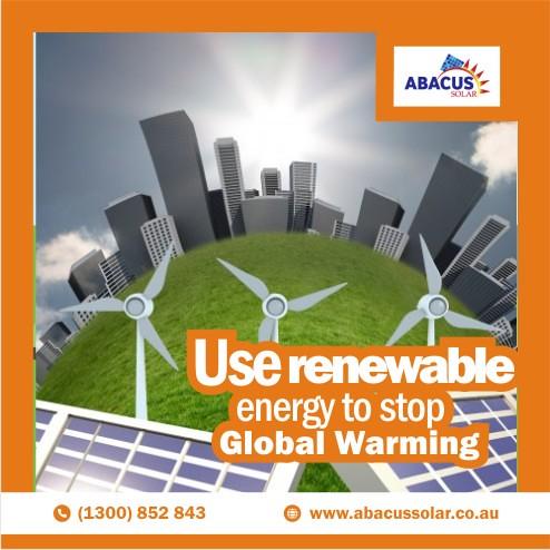 Use renewable energy to stop global warming