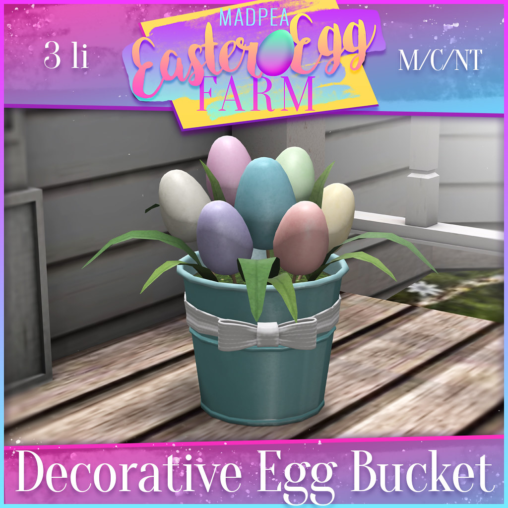MadPea Easter Egg Farm Prizes: Decorative Egg Bucket!