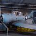 Douglas SBD Dauntless on the hangar deck of USS Midway