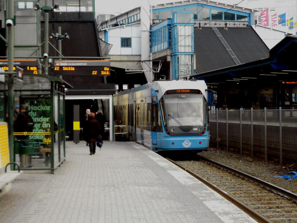 """Станция """"Globen"""". Трамвай."""