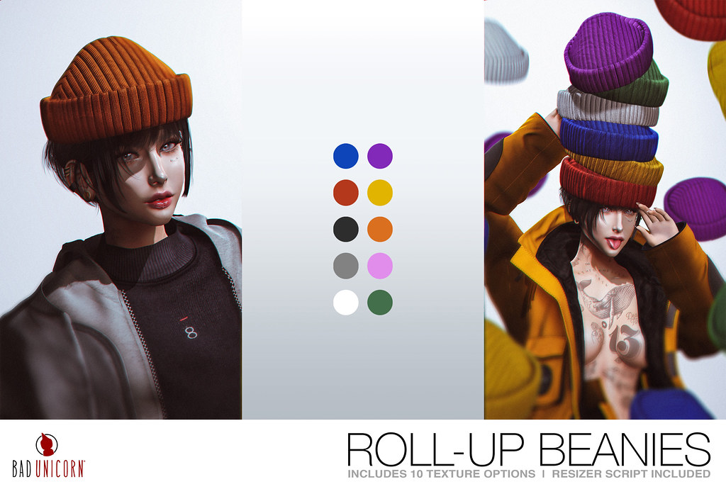 NEW! Roll-Up Beanies @ TMD