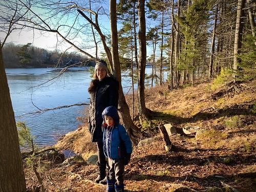 Amy and Ezra at Cranberry Lake