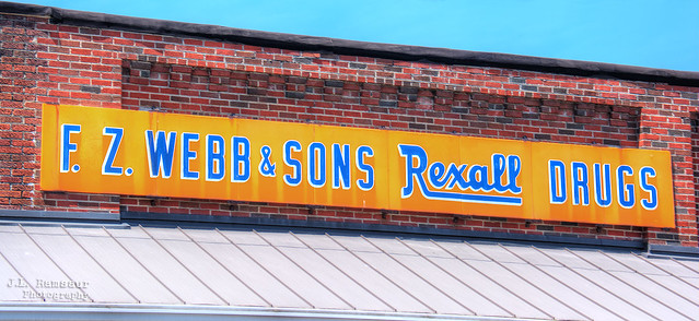 F Z Webb & Sons Rexall Drugs sign - Downtown Smithville, Tennessee