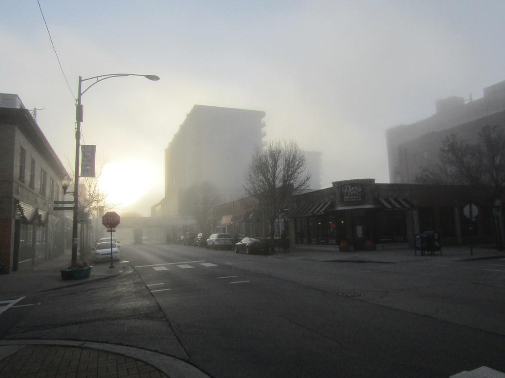 Edgewater in a fog