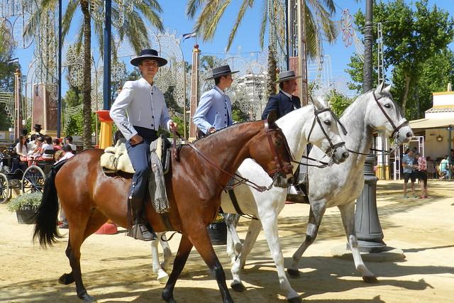paseo desfile grupos de caballos y jinetes Parque González Hontoria Feria del Caballo 2014 Jerez de la Frontera Cadiz 02