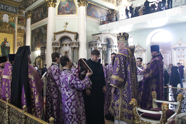 Архиерейское служение в Неделю 5-ю Великого поста, преподобной Марии Египетской 05.04.2020