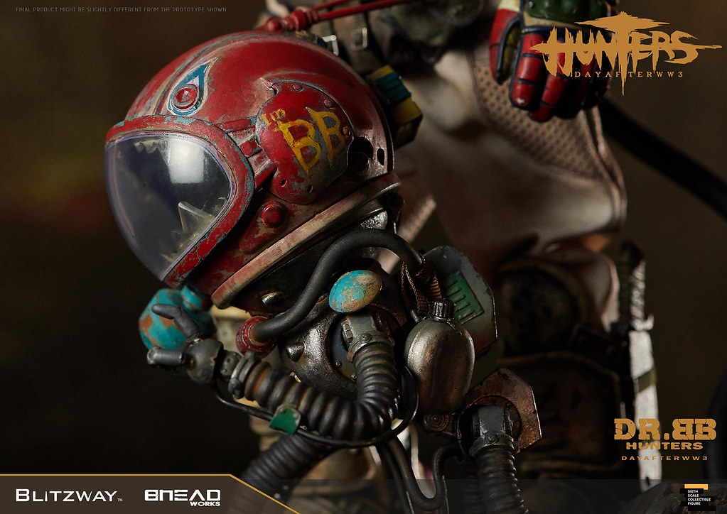 揮舞巨斧、喚醒機器人的少女! Blitzway《獵人:第三大戰日後》BB博士 (HUNTERS : Day After WWlll – Dr.BB) 1/6 比例人偶