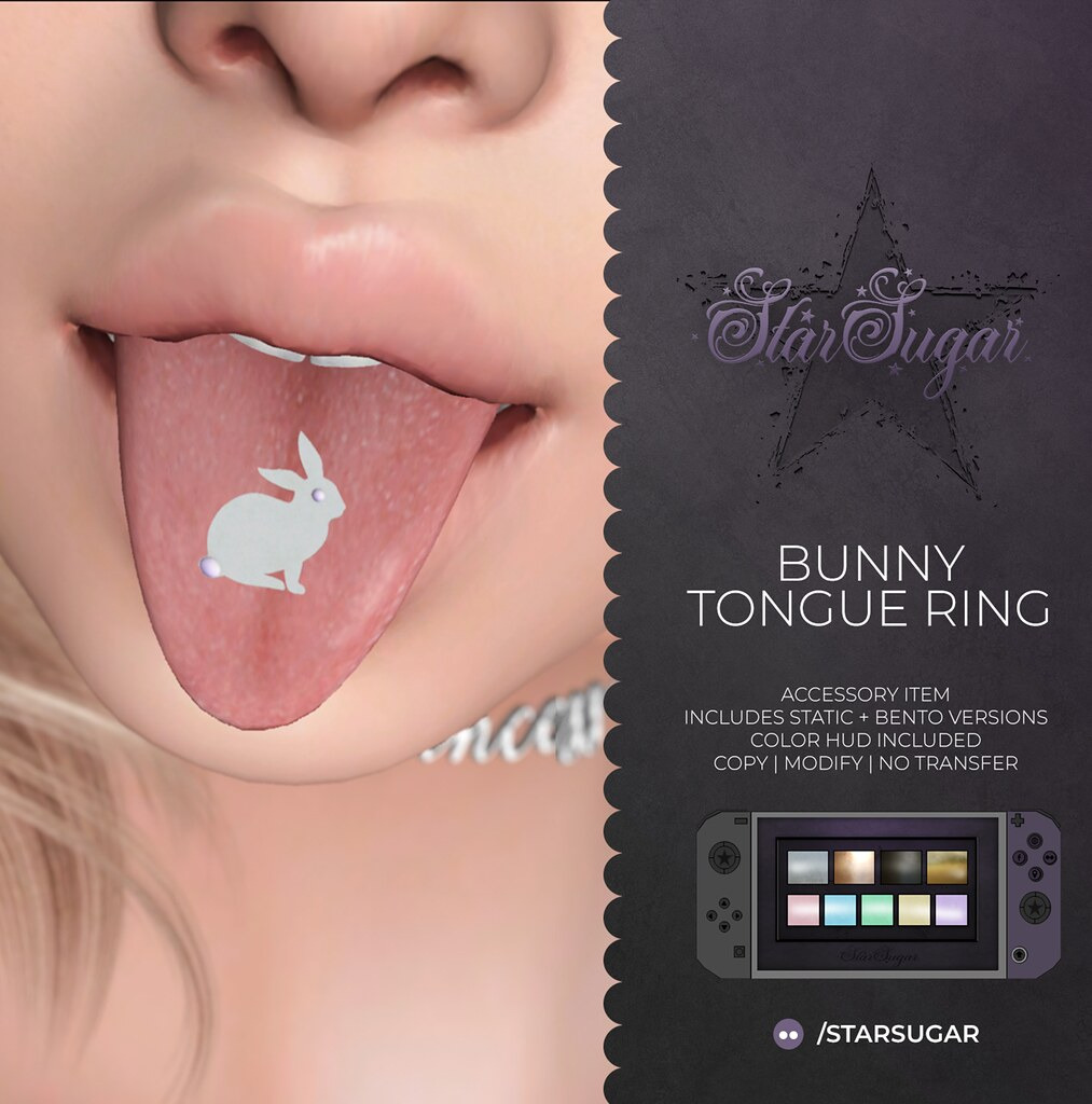Bunny tongue ring