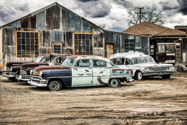 Old Cars, Goldfield, NV