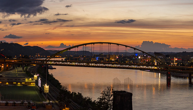 Fort Pitt Bridge Pittsburgh Sunset