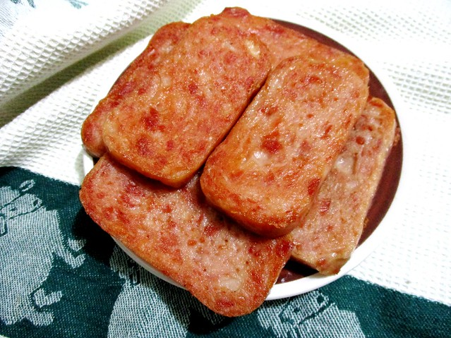 Luncheon meat, pan fried