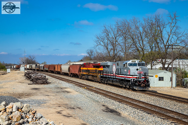 Southbound KCS Loaded Grain Train at Grandview, MO