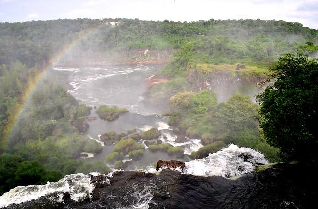 Iguazu Falls - the Iguazu River on the border between Brazil and Argentina.