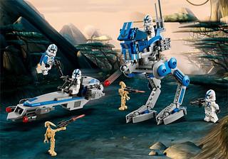 在複製人戰爭期間大活躍的經典兵團來襲! LEGO 75280《星際大戰》501軍團 501st Legion Clone Troopers