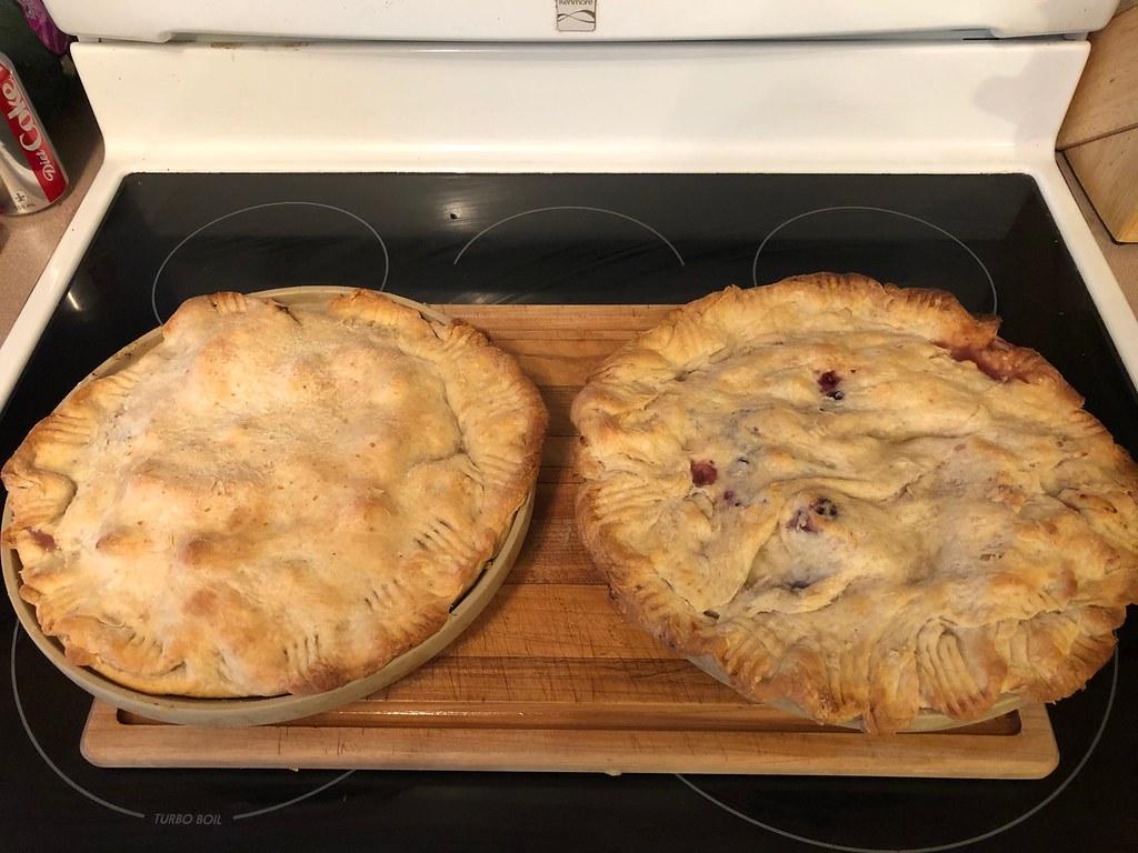 Apple / Blueberry Pie Duo