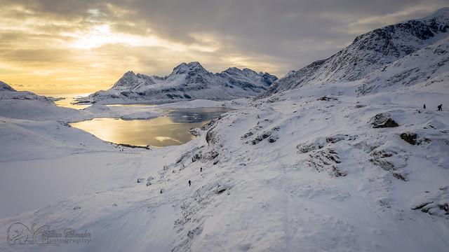 Snowshoeing to Mount Ryten