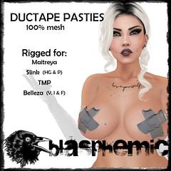 BLASPHEMIC DUCTAPE PASTIES AD