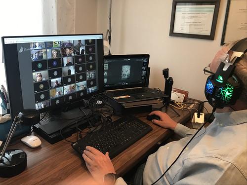 Mikel Agirregabiria en videoconferencia en época de COVID-19