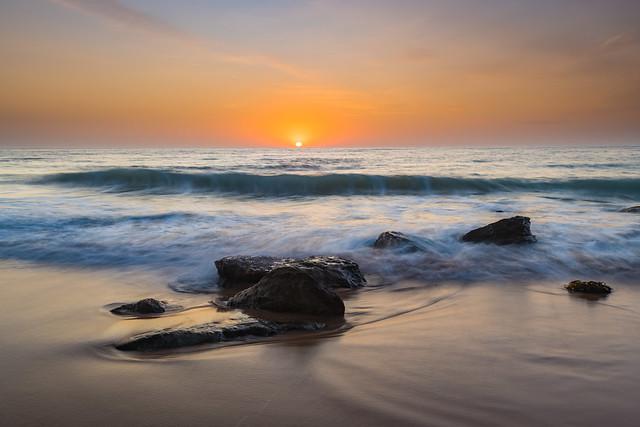 Soft Sunrise Seascape with some light cloud