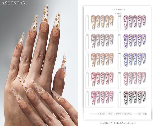 Ascendant Plastic Stars Nails Group Gift