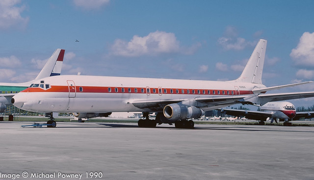 N245HG - 1963 build Douglas DC-8-53, airframe later scrapped on site at Opa Locka