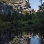 Watkins Pinnacles reflecting in Mirror Lake