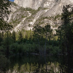 Half Dome reflecting in Mirror Lake