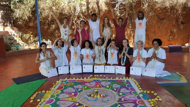 Inner happiness comes from Yoga