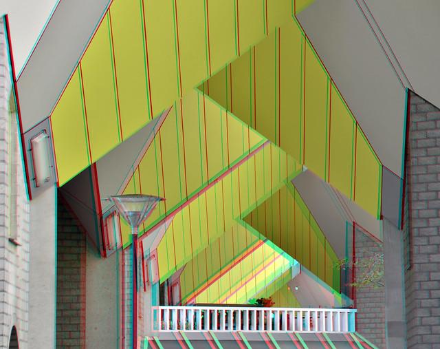 Kubus-woningen Blaak Rotterdam 3D