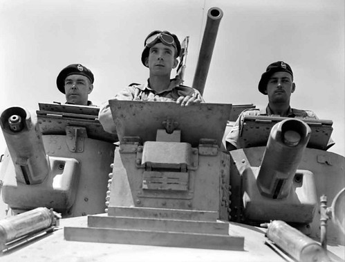 1st Royal Tank Regiment A9 Cruiser Mk I tank in the Abbasia area near Egypt May 30th 1940.
