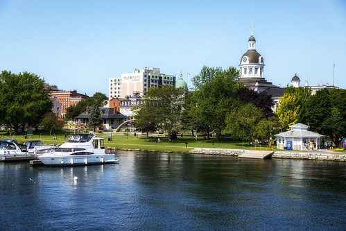 canada ontario kingston ville port city harbor cityhall hoteldeville