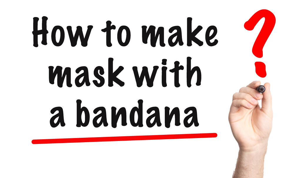 How to make mas with a bandana text with marker. Hand writting question How to make mas with a bandana on a whiteboard