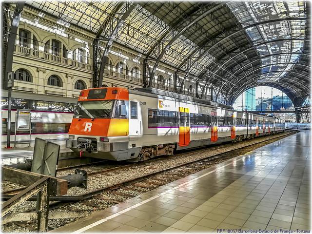 Rodalies en la Estació de França