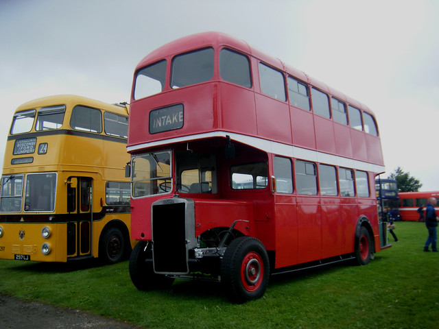 Doncaster motor bus 94, EDT 703, with former trolleybus body.