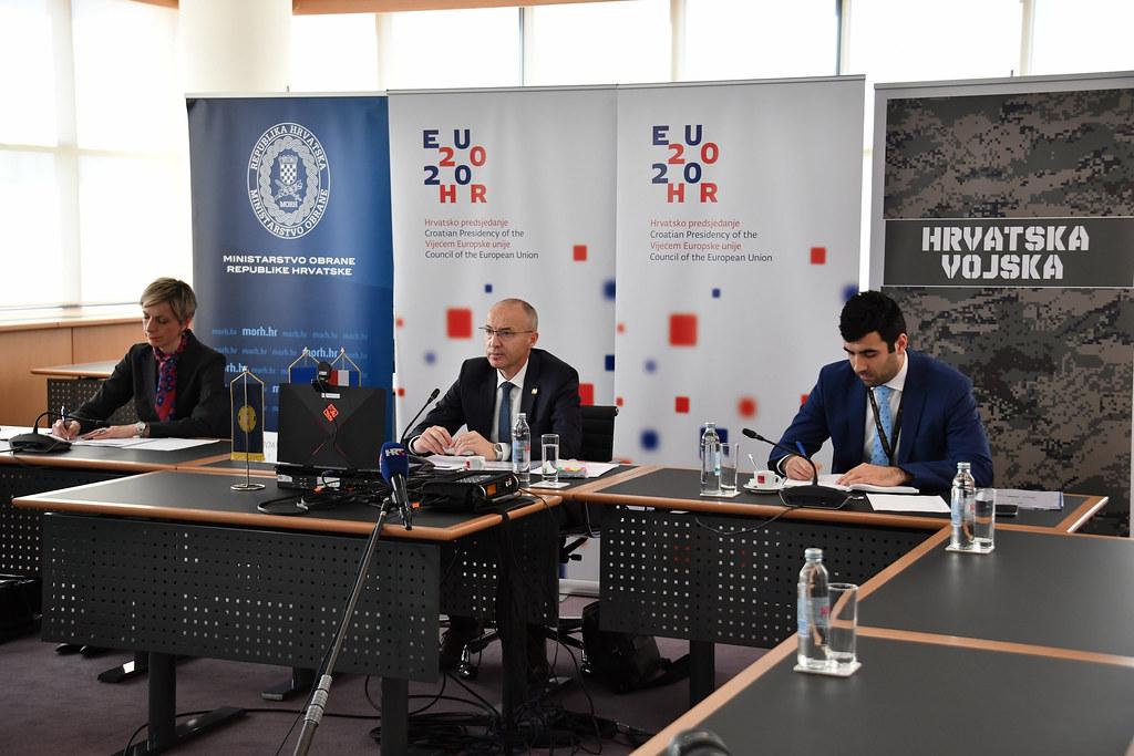 Ministar Krstičević na videokonferenciji ministara obrane država EU