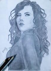 Scarlett Johansson - Portrait Pencil Drawing