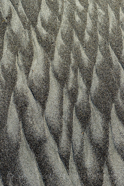 Sand Patterns on Rialto Beach in Olympic National Park