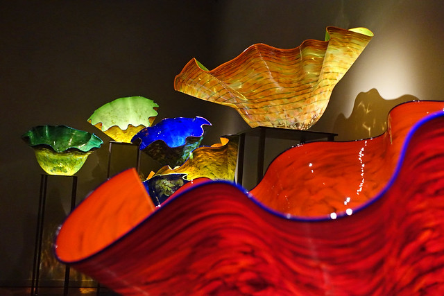 """Macchia Forest"" at the Chihuly Garden and Glass Museum in Seattle, WA"