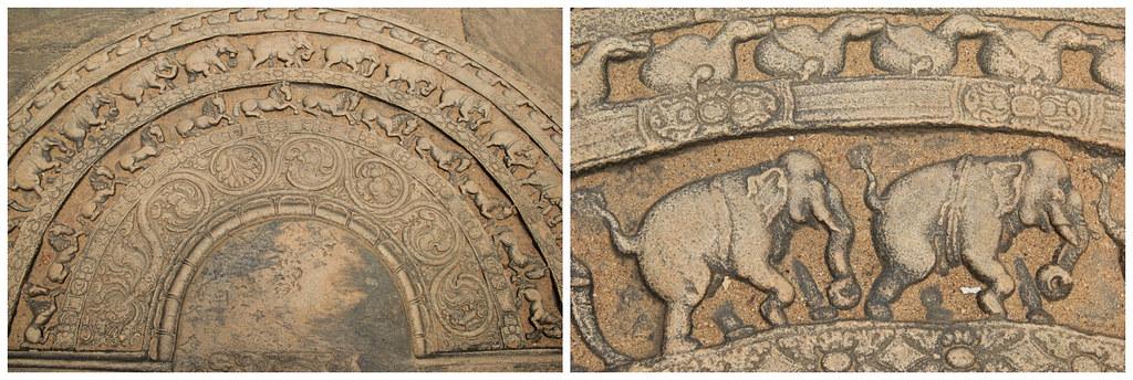 Floor engravings, Vatadage, Polonnaruwa