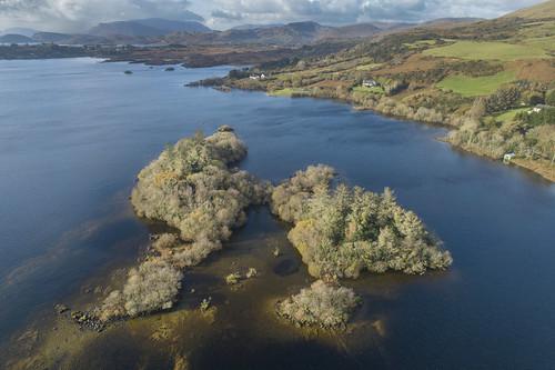lough corrib galway ireland landscape lake water drone aerial