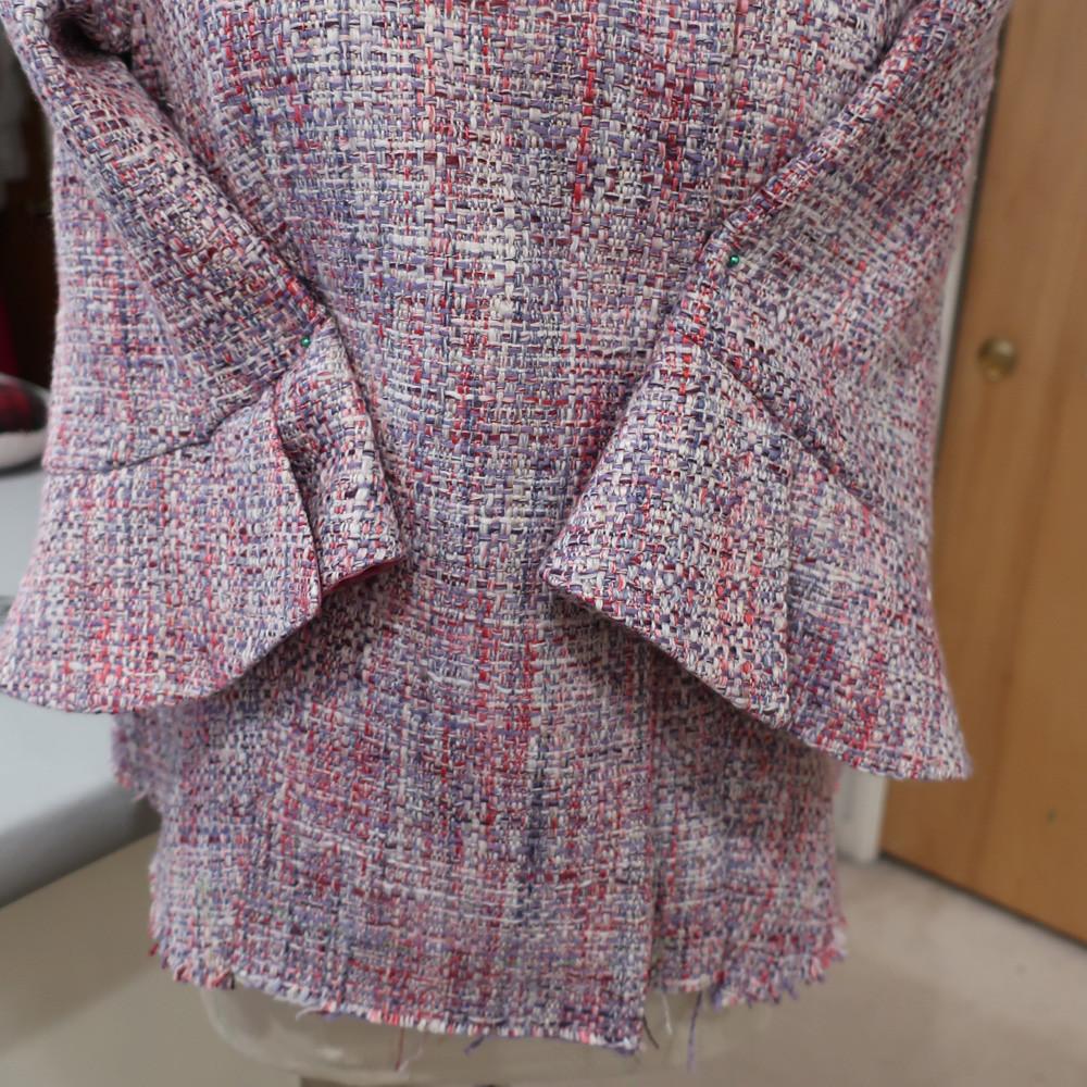 Pink jacket sleeve mistake