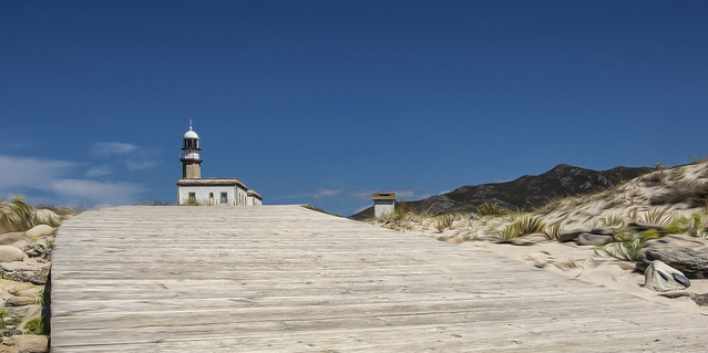 Unusual pano of a lighthouse in NW Spain