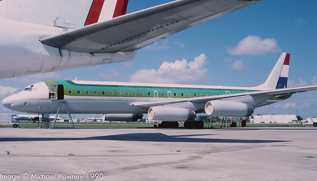 N8974U - 1969 build Douglas DC-8-62, airframe stored at Yaounde Nsimalen in early 2020