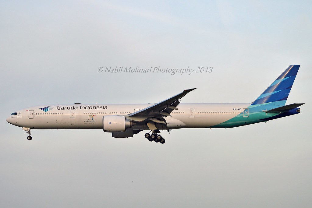 Garuda Indonesia PK-GIE Boeing 777-3U3ER cn/29147-1148 @ Zwanenburgbaan EHAM / AMS 07-04-2018